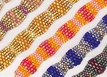 Triangle beads make this simple peyote stitch bracelet shine.