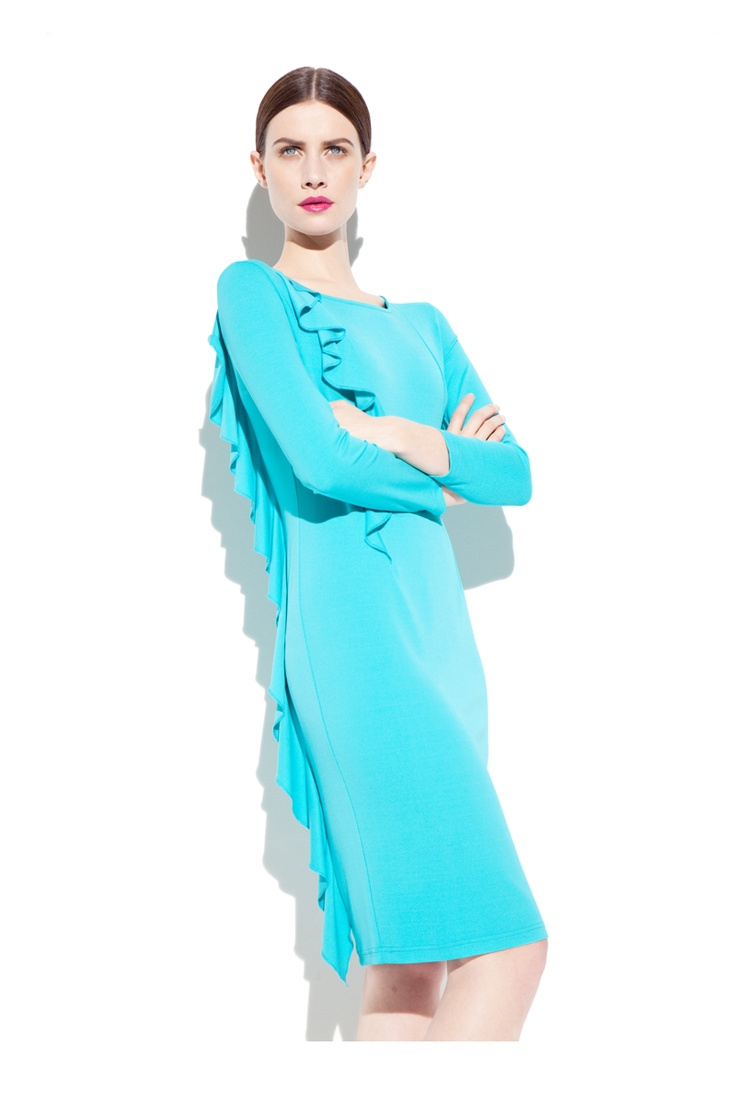 Deanna Sea Green Jersey Dress