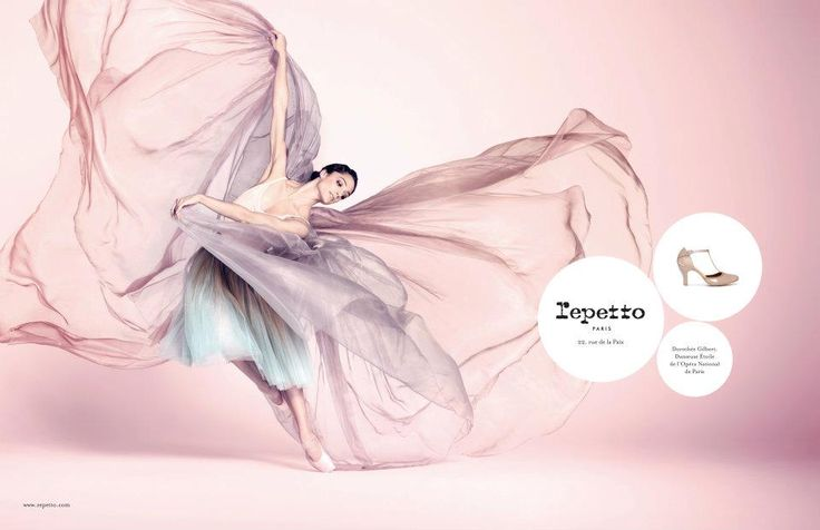 Repetto's Campaign, Spring-Summer 2012 with Dorothée Gilbert, Prima Ballerina