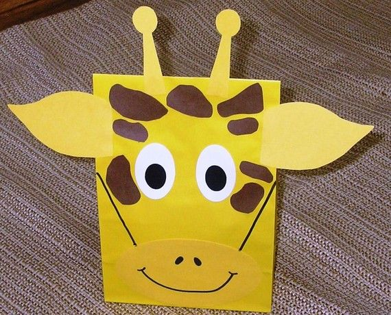 Giraffe Treat Sacks  Jungle Zoo Safari Theme Birthday by jettabees, $15.00