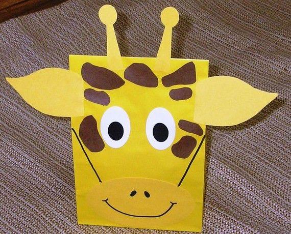 Giraffa ossequio sacchi Jungle Zoo Safari tema di jettabees