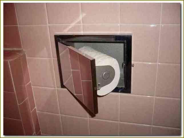Hidden In Wall Toilet Paper Holder