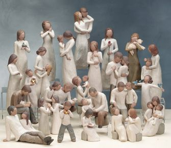 I ABSOLUTELY love willow tree figurines!!!  I am so hooked on these beautiful things!!!  I already have a small handful!!