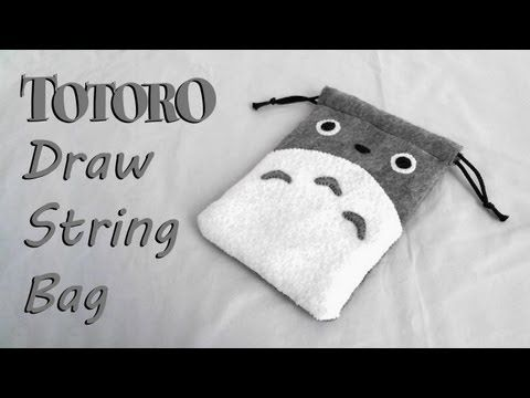 How to Make a Totoro Drawstring Bag tutorial - YouTube