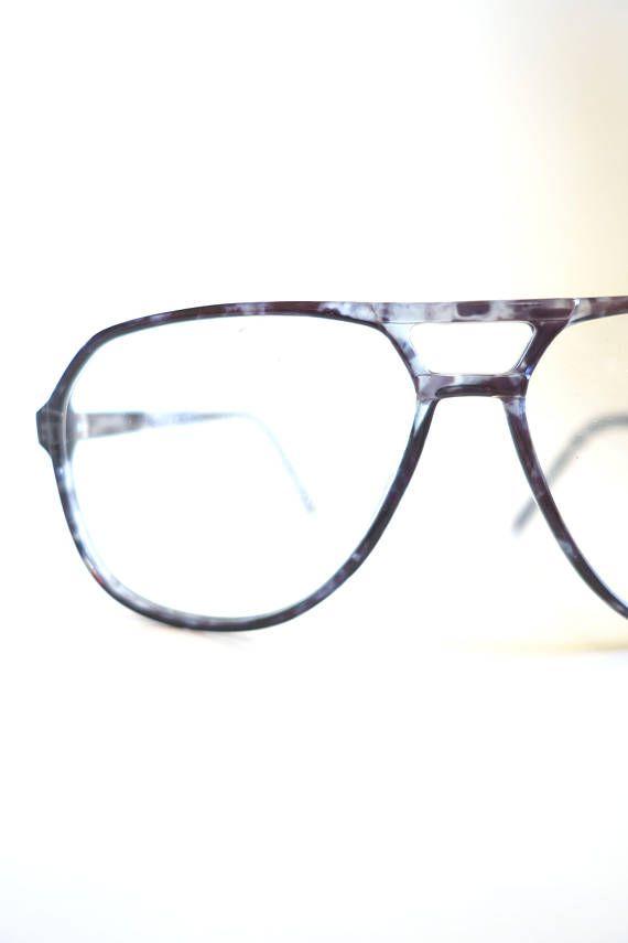 56af40baaeb Mens Aviator Glasses - Vintage 1980s Glasses - 1980s Aviator ...