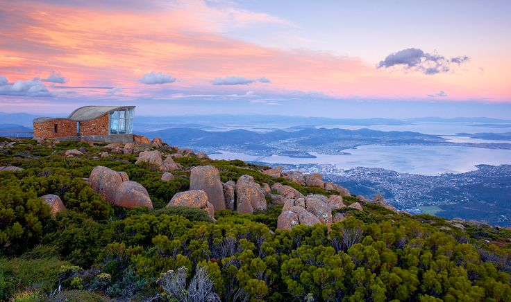 Mt Wellington Lookout, Hobart Aus. What a view! Russell Stewart [photographer]