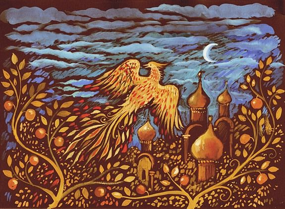 Stravinsky's Painted Firebird. Credit: James Mayhew