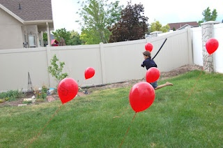 For ninja training: Balloon obstacle course @Molly Roberts  I feel like there are children you are close to who would love this