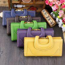 Luxe Vintage en cuir véritable femmes sac à main pour l'argent femme portefeuille en cuir marque Long moraillon embrayage portefeuilles pour femmes carte de crédit(China (Mainland))