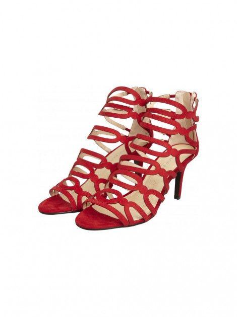 Sandales à talons et brides