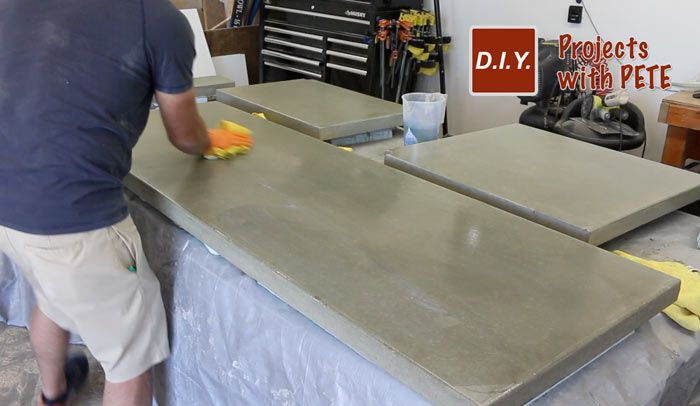 How to Make Concrete Counters for an Outdoor Kitchen ...