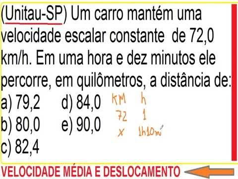 https://youtu.be/Z7gfXMS6jWg Distância percorrida ou deslocamento com velocidade escalar constante Cá...