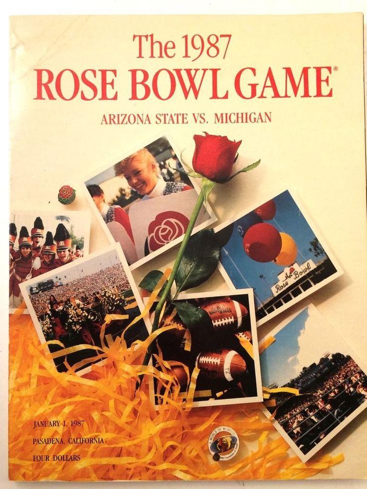 The 1987 Rose Bowl Game Arizona State vs. University of Michigan Magazine Jan 1