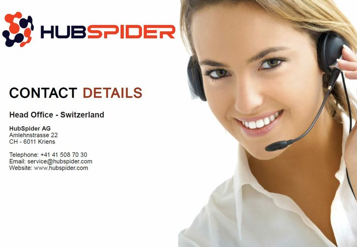 Request a demo or contact us with any inquiry: www.hubspider.com/request-demo