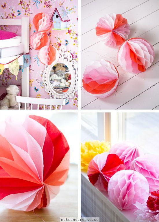 Hur man gör honeycomb pappersbollar - Idébank - DIY - Make & Create