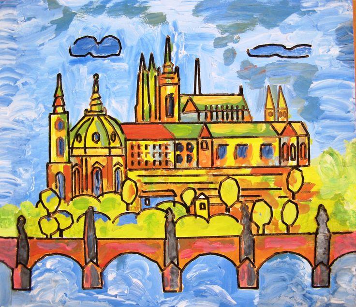 Hradčany s Karlovým mostem  Burjan