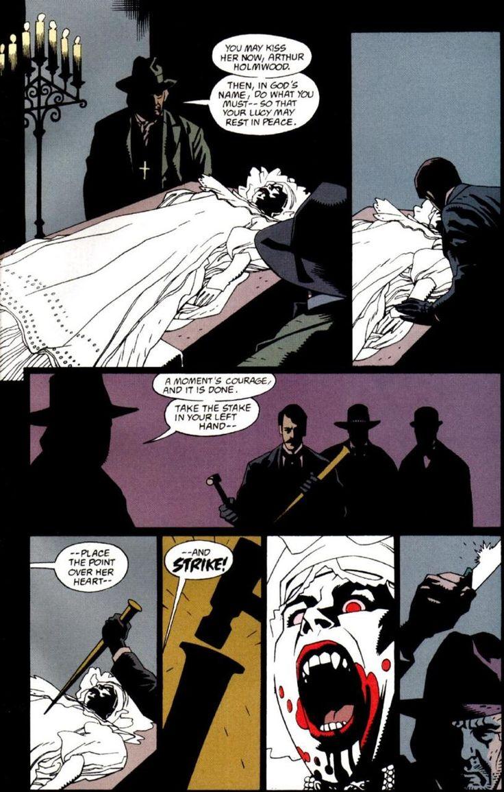"""Mike Mignola - Página de la adaptación a cómic del """"Drácula"""" de F. F. Coppola (1992)"""