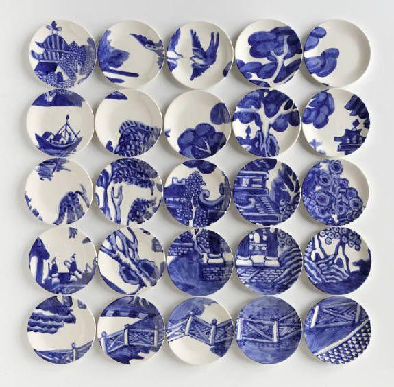 Mosaïques à base d'assiettes en céramique                                                                                                                                                                                 Plus