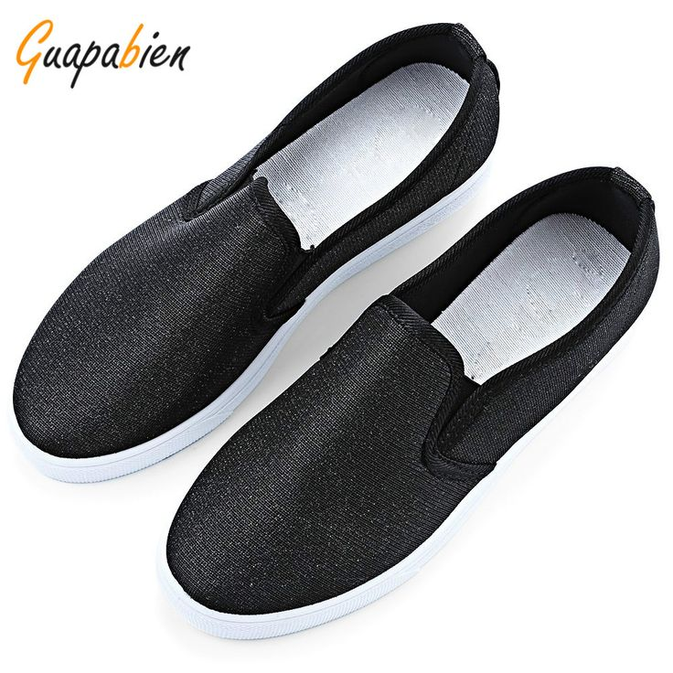 Guapabien 2017 Spring Autumn Sequined Canvas Shoes for Women Loafers Solid Color Casual Sequined Canvas Sapatos Women Flat Shoes