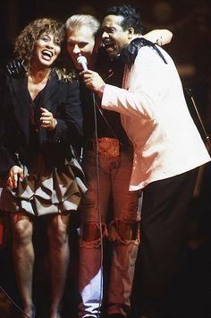 Тина Тернер, , Matt Goss, Four Tops -выступление в зале Royal Albert Hall на церемонии British Awards, 1989