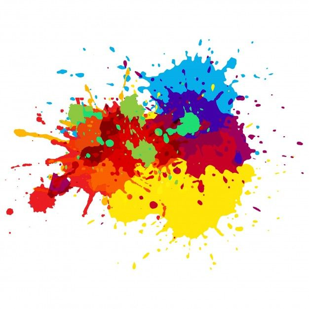 Colorful Paint Splashes Free Vector Watercolor Splash Paint Splash Paint Splash Background