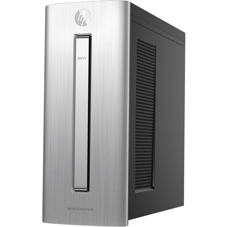 HP - Envy Desktop - Intel Core i7 - 16GB Memory - Nvidia GeForce GTX 1060 - 256GB Solid State Drive + 1TB Hard Drive - HP finish in natural silver