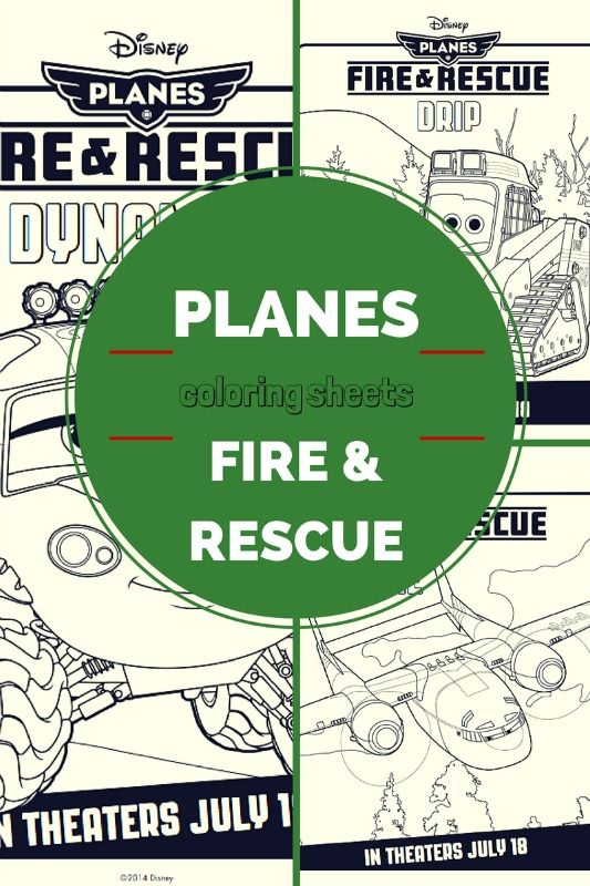 Planes: Fire and Rescue Coloring Pages - My Crazy Good Life
