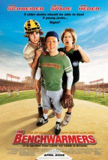 The Benchwarmers (2006) A trio of guys try and make up for missed opportunities in childhood by forming a three-player baseball team to compete against standard children baseball squads.