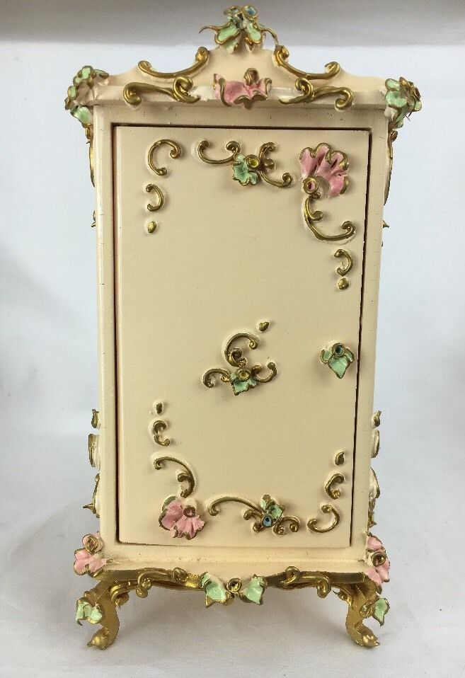 Beautiful Spielwaren Dollhouse Miniature Gold Dresser Closet Cabinet | eBay