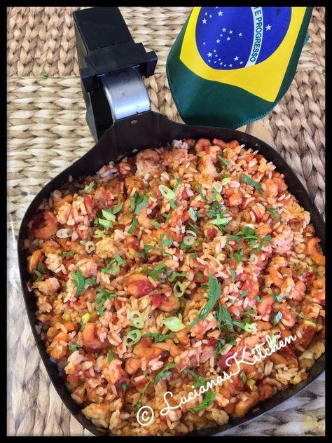 Garnalen risotto op snelle Braziliaanse wijze uit de XL bakplaat (HD9912/90)…