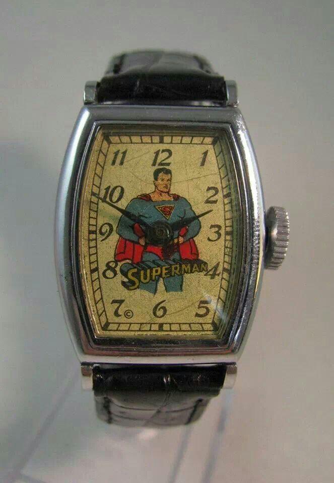 Vintage Hand Wind Superman Watch Circa 1950 Antiquities