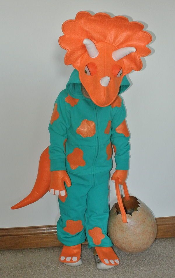 Super cute Triceratops costume for Halloween - DIY sewing tutorial                                                                                                                                                                                 More