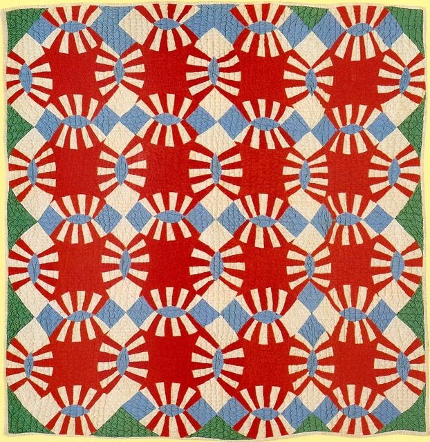 Double Wedding Ring Quilt Emma Hall C 1940