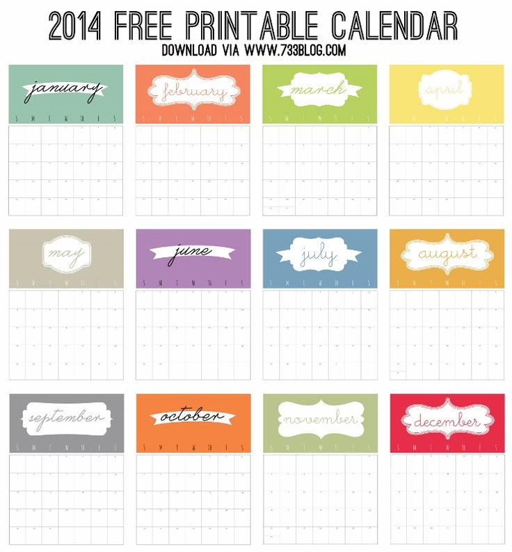 109 Best Printable Calendars Images On Pinterest Free Printables
