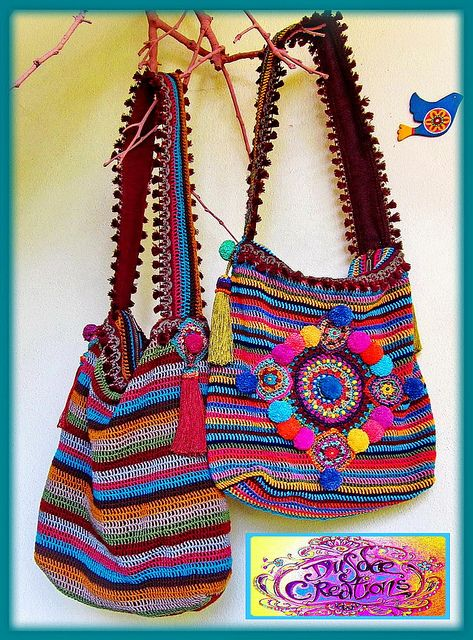 ~ Colorful crochet bags by me ~ | Flickr: Intercambio de fotos