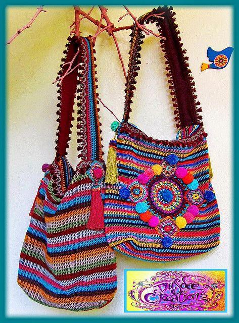 ~ Colorful crochet bags by me ~ | Flickr: Intercambio de fotos