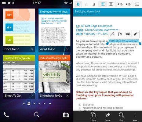 Aplikasi Ms Word, Excel, PPT untuk BlackBerry