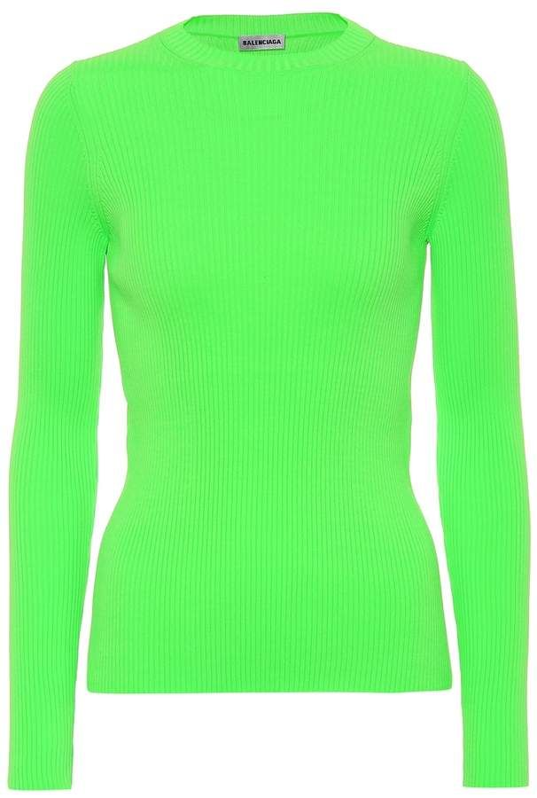 e547491042340d Neon ribbed sweater #green#neon#material | Home Fashion Style in ...