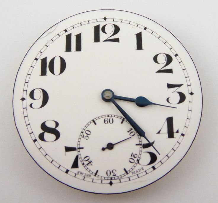 Antique 1900s Swiss 15 Jewel Pocket Watch Mechanical Movement - The Collectors Bag