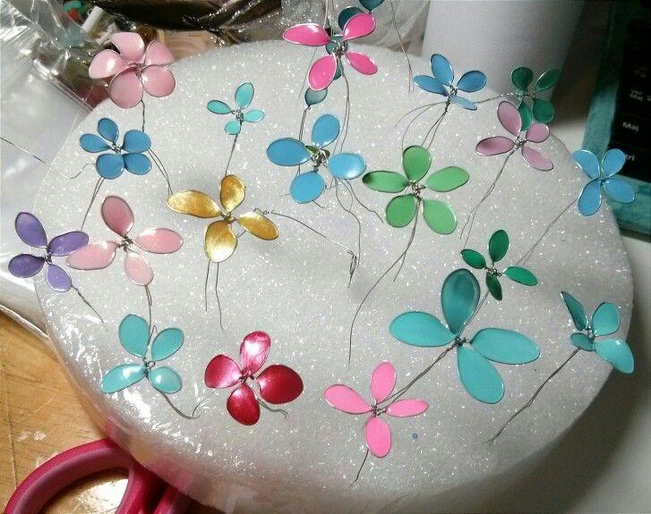 My nail polish flowers