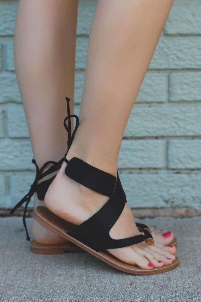 Ankle Wrap Self Tie Back Flat Sandal athena-917