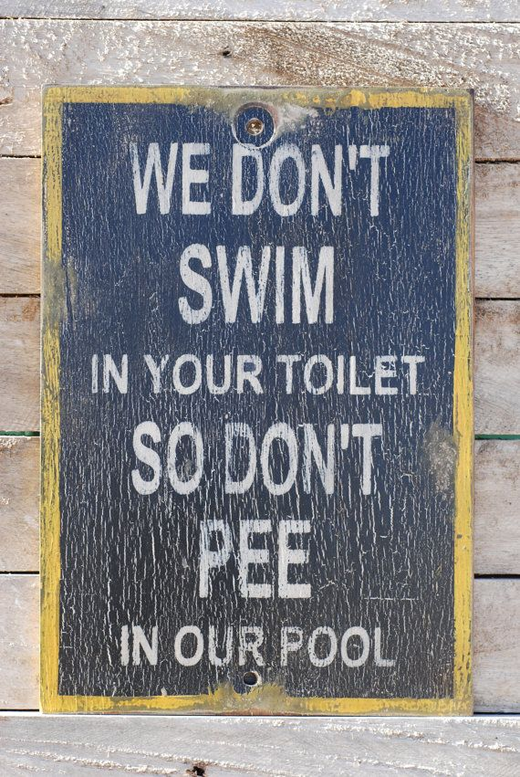 pool sign made from reclaimed plywood by KingstonCreations on Etsy, $30.00