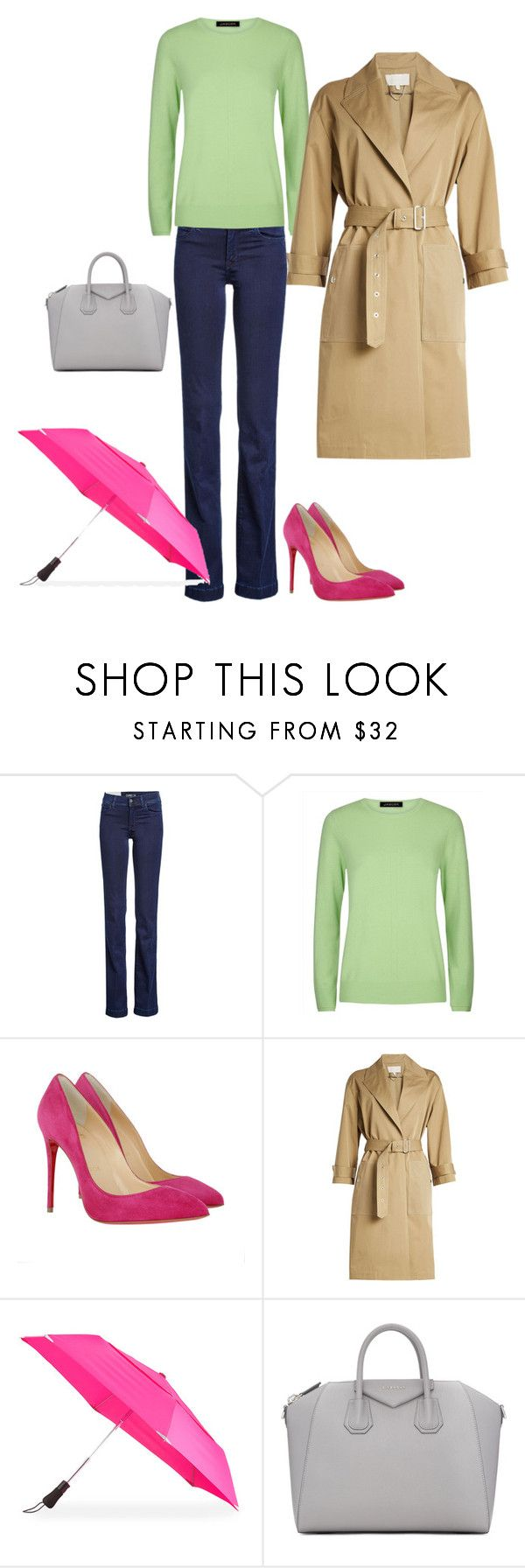6 by asvetik on Polyvore featuring мода, Jaeger, Vanessa Bruno, 7 For All Mankind, Christian Louboutin, Givenchy and ShedRain