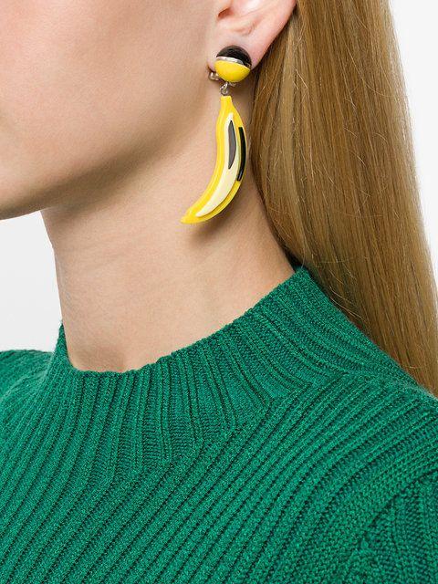 4f544719b Prada banana clip on earrings Prada Pop Banana Earrings - Farfetch