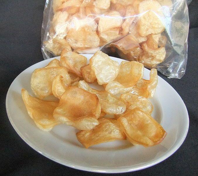 Kerupuk Kulit. Cowhide Cracker. Indonesia.