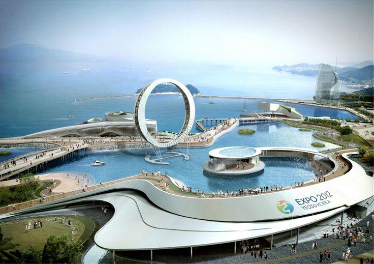 Korea, arquitectura, cultura y mar. Yeosu 2012