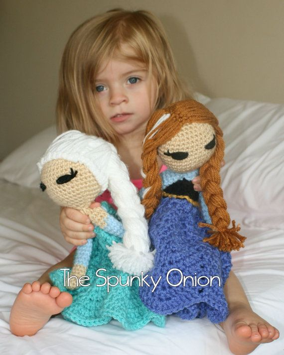 Inspiration - PAID PATTERN Ice Queen and Princess loveys by TheSpunkyOnion on Etsy