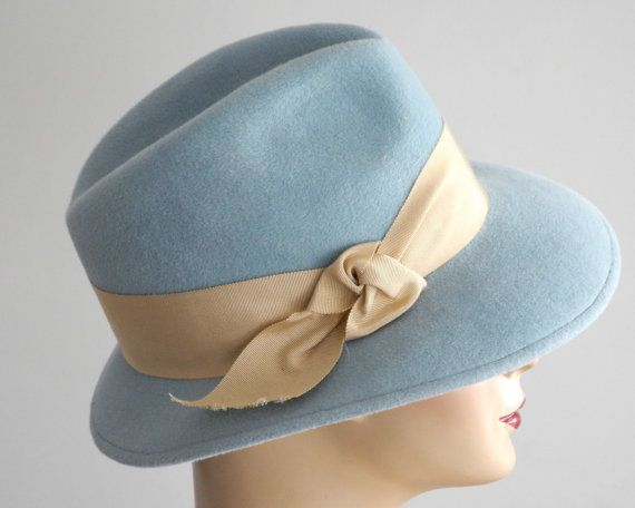 Pastel Blue Fedora Hat Women-Spring Fashion Fall by KatarinaHats