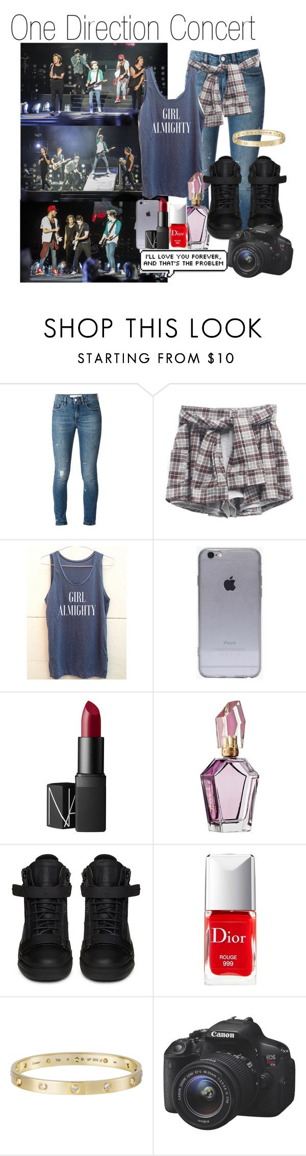 """One Direction Concert (Requested)"" by one-direction-outfitsxxx ❤ liked on Polyvore featuring dVb Victoria Beckham, NARS Cosmetics, Giuseppe Zanotti, Christian Dior and Eos"
