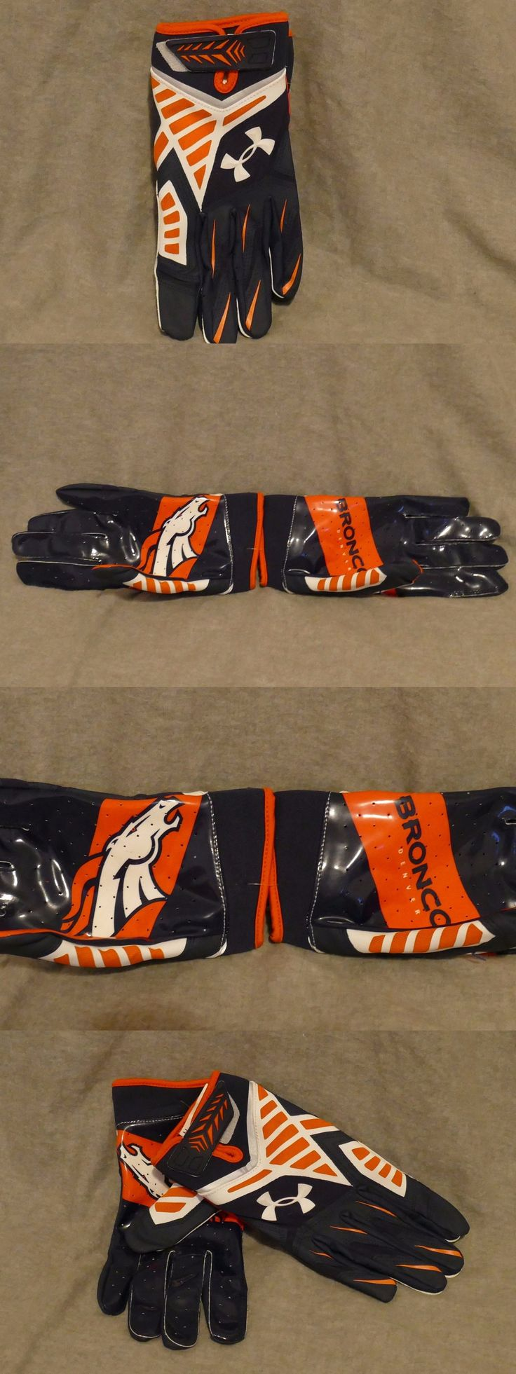 Gloves 159114: New Ua Under Armour Nfl Denver Broncos Football Receiver Gloves Sz Xl -> BUY IT NOW ONLY: $31.49 on eBay!